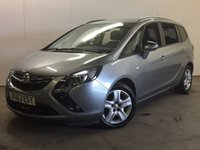 USED 2013 63 VAUXHALL ZAFIRA TOURER 1.8 EXCLUSIV 5d 138 BHP 7 SEATER CRUISE PRIVACY PDC 7 SEATER. STUNNING SILVER MET WITH CONTRASTING BLACK CLOTH TRIM. CRUISE CONTROL. COLOUR CODED TRIMS. PRIVACY GLASS. PARKING SENSORS. BLUETOOTH PREP. CLIMATE CONTROL. R/CD PLAYER. MFSW. MOT 02/18. ONE PREV OWNER. PRISTINE CONDITION. FCA FINANCE APPROVED DEALER. TEL 01937 849492.