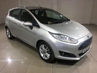 USED 2016 16 FORD FIESTA 1.2 ZETEC 5d 81 BHP 1 OWNER/Bluetooth/DAB