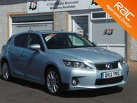 USED 2012 12 LEXUS CT 1.8 200H SE-I 5d AUTO 136 BHP Zero Tax - Bluetooth -Hybrid - keyless go