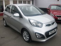 2012 KIA PICANTO 1.2 2 5d AUTO 84 BHP £5995.00