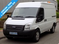 USED 2013 13 FORD TRANSIT 2.2 RWD 350 MWB MEDIUM ROOF 125 BHP 6 SPEED  1 Owner, Full Service History, High Spec RWD