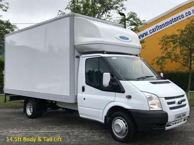 2012 12 FORD TRANSIT 125 T350 LWB 14.5ft LUTON BOX VAN+ TAIL-LIFT DRW Free UK Delivery