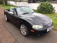 USED 2002 51 MAZDA MX-5 1.6 I 2d 109 BHP **RARE BLACK AND RED LEATHER**UNWANTED PT EX / SOLD AS SEEN