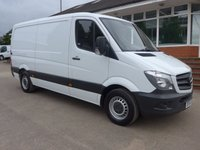 USED 2014 64 MERCEDES-BENZ SPRINTER 313 CDI MWB LOW ROOF, 130 BHP [EURO 5], AIR CON, ELECTRIC PACK, PARKING SENSORS, 1 COMPANY OWNER