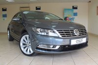 USED 2014 14 VOLKSWAGEN CC GT 2.0 TDI138 BHP DSG BLUEMOTION TECH  SATELLITE NAVIGATION, LEATHER, CLIMATE CONTROL, 18 INCH ALLOY WHEELS, BLUETOOTH, LOW MILEAGE COUPE, MUST BE SEEN