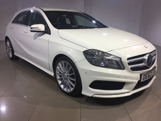 View our 2013 62 MERCEDES-BENZ A CLASS 1.8 A180 CDI BLUEEFFICIENCY AMG SPORT 5d AUTO 109 BHP