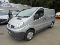 USED 2010 10 RENAULT TRAFIC 2.0 SL27 DCI SWB 6 SPEED *SAT NAV*P/X 2 CLEAR*NO VAT*
