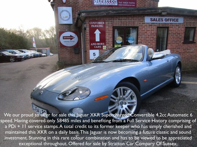 2004 54 JAGUAR XKR 4.2 XKR CONVERTIBLE 2d AUTO 400 BHP