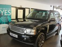"""USED 2008 LAND ROVER RANGE ROVER 3.6 TDV8 VOGUE SE 5d AUTO 272 BHP Fitted with £10000 worth of extras!. This RANGE ROVER is finished in Metallic Santorini Black with full Grey leather electric memory seats. It is fitted with power steering, heated steering wheel, remote locking, electric windows and mirrors with power fold, climate control, cruise control, heated front/rear seats, auto Xenon lights, electric sunroof,  Sat Nav/digital TV/Phone, front and rear parking sensors with rear view camera, Bluetooth,  side steps, 20"""" alloys, Harmon Kardon."""