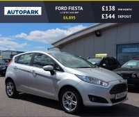 USED 2013 13 FORD FIESTA 1.2 ZETEC 5d 81 BHP LOW DEPOSIT OR NO DEPOSIT FINANCE AVAILABLE.