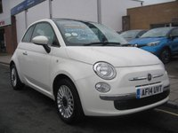 USED 2014 14 FIAT 500 1.2 LOUNGE 3d 69 BHP only 13,715 miles, air conditioning, alloys, panoramic roof.