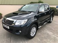 USED 2015 15 TOYOTA HI-LUX 3.0 INVINCIBLE 4X4 D-4D DCB 1d 169 BHP LEATHER, SAT NAV, SIDE STEPS, ALLOYS