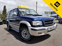 USED 2001 Y ISUZU TROOPER 3.0 TD LWB 157 BHP! p/x welcome! 2 OWNERS! FULL S-HISTORY! CAM-BELT DONE! 7 SEATS! RUST FREE ! AUX! AIR-CON! LONG MOT & SRVC! 2 OWNERS! FULL S-HISTORY! CAMBELT DONE 95K! LONG MOT! NEW SERVICE! RUST FREE! AUX! AIR CON! 3 MONTHS AA WARRANTY!