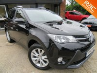 "USED 2014 14 TOYOTA RAV4 2.2 D-4D INVINCIBLE 5d AUTO 150 BHP ONE OWNER, SAT NAV, FULL LEATHER, 18"" ALLOYS, PARKING SENSORS, FULL SERVICE HISTORY, SPARE KEY"
