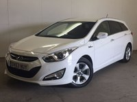 USED 2013 63 HYUNDAI I40 1.7 CRDI STYLE BLUE DRIVE 5d 114 BHP SAT NAV CRUISE ONE OWNER FSH £30 YEAR ROAD TAX. 65 MPG. SATELLITE NAVIGATION. STUNNING WHITE WITH CONTRASTING BLACK CLOTH TRIM. ELECTRIC SEATS. CRUISE CONTROL. 16 INCH ALLOYS. COLOUR CODED TRIMS. PRIVACY GLASS. PARKING SENSORS. REVERSING CAMERA. BLUETOOTH PREP. CLIMATE CONTROL. R/CD PLAYER. 6 SPEED MANUAL. MFSW. MOT 06/18. ONE OWNER FROM NEW. FULL SERVICE HISTORY. PRISTINE CONDITION. FCA FINANCE APPROVED DEALER. TEL: 01937 849492.