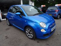 USED 2014 14 FIAT 500 0.9 TWINAIR S 3d 105 BHP Fiat Service History + Just Serviced by ourselves, One Lady Owner from new, MOT until July 2018 (no advisories), Excellent on fuel! FREE Road Tax!