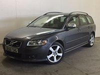 USED 2010 60 VOLVO V50 1.6 D2 R-DESIGN 5d 113 BHP BODYKIT LEATHER FSH £30 YEAR ROAD TAX. 65 MPG. BODYKIT. STUNNING GREY MET WITH TWO TONE CREAM LEATHER TRIM. CRUISE CONTROL. 17 INCH ALLOYS. COLOUR CODED TRIMS. CLIMATE CONTROL. R/CD PLAYER. MFSW. TOWBAR. MOT 03/18. FULL SERVICE HISTORY. PRISTINE CONDITION. FCA FINANCE APPROVED DEALER. TEL 01937 849492