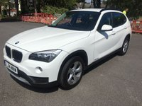 USED 2014 14 BMW X1 2.0 SDRIVE20D EFFICIENTDYNAMICS 5d 161 BHP ONE OWNER IN WHITE WITH FSH