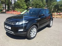 USED 2014 14 LAND ROVER RANGE ROVER EVOQUE 2.2 ED4 PURE TECH 5d 150 BHP ONE OWNER IN BLACK WITH FULL HEATED BLACK LEATHER SAT NAV FSH