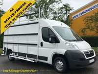 USED 2013 13 CITROEN RELAY 35 L3H2 HDI [ GLAZIERS FRAIL SIDE+ ROOF RACKS ] Van Low Mileage Free UK Delivery