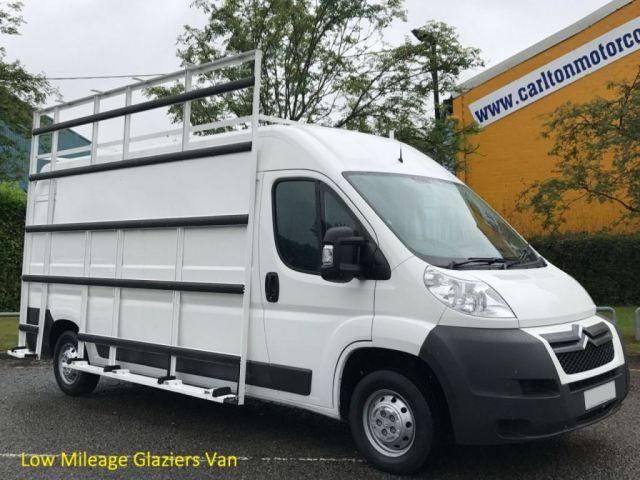 2013 13 CITROEN RELAY 35 L3H2 HDI [ GLAZIERS FRAIL SIDE+ ROOF RACKS ] Van Low Mileage Free UK Delivery