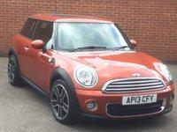 2013 MINI HATCH ONE 1.6 ONE D 3d 90 BHP £6995.00