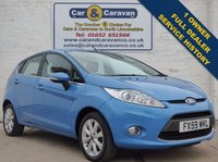 USED 2009 59 FORD FIESTA 1.2 ZETEC 5d 81 BHP 1 OWNER 1 Owner Full Service History 0% Deposit Finance Available