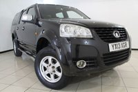 USED 2013 13 GREAT WALL STEED 2.0 TD SE 4X4 DCB 4DR 141 BHP FULL SERVICE HISTORY + HEATED LEATHER SEATS + PARKING SENSOR + BLUETOOTH + MULTI FUNCTION WHEEL + AUXILIARY PORT + ALLOY WHEELS