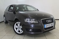 USED 2009 09 AUDI A3 1.9 TDI E SPORT 3DR 103 BHP FULL SERVICE HISTORY + AIR CONDITIONING + MULTI FUNCTION WHEEL + RADIO/CD + AUXILIARY PORT + 17 INCH ALLOY WHEELS
