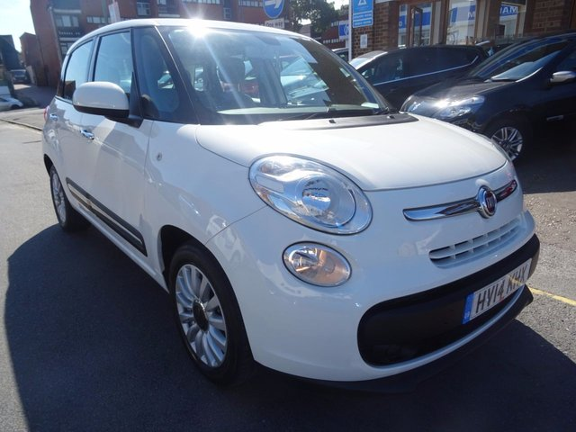 2014 14 FIAT 500L 1.2 MULTIJET POP STAR DUALOGIC 5d AUTO 85 BHP BOSSA NOVA WHITE/GREY TRIM