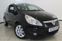 USED 2009 09 VAUXHALL CORSA 1.4 DESIGN 3DR 90 BHP FULL SERVICE HISTORY + HALF LEATHER SEATS + AIR CONDITIONING + MULTI FUNCTION WHEEL + RADIO/CD + ELECTRIC WINDOWS + 16 INCH ALLOY WHEELS