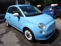 USED 2013 13 FIAT 500 1.2 COLOUR THERAPY 3d 69 BHP Very Low Mileage, Full Service History (Fiat + ourselves), One Previous Owner, Minimum 10 months MOT, Great on fuel! Only £30 Road Tax!