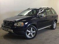USED 2010 10 VOLVO XC90 2.4 D5 R-DESIGN SE AWD 5d AUTO 185 BHP 7 SEATER LEATHER FSH NO FINANCE REPAYMENTS FOR 2 MONTHS STC. 4WD. 7 SEATER. STUNNING BLUE MET WITH FULL BLACK LEATHER R DESIGN TRIM WITH WHITE PIPING. ELECTRIC MEMORY SEATS. CRUISE CONTROL. 19 INCH ALLOYS. COLOUR CODED TRIMS. PARKING SENSORS. CLIMATE CONTROL. R/CD PLAYER. MFSW. DETACHABLE TOWBAR. MOT 11/18. ONE PREV OWNER. FULL SERVICE HISTORY. PRISTINE CONDITION. FCA FINANCE APPROVED DEALER. TEL 01937 849492.