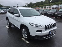 USED 2015 15 JEEP CHEROKEE 2.0 M-JET LIMITED 5d 138 BHP High Limited spec, one owner with Sat Nav, leather, camera plus more
