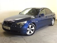 USED 2005 55 BMW 5 SERIES 2.5 525D SE 4d 175 BHP LEATHER CRUISE PRIVACY PDC STUNNING BLUE MET WITH FULL BLACK LEATHER TRIM. CRUISE CONTROL. 17 INCH ALLOYS. COLOUR CODED TRIMS. PRIVACY GLASS. PARKING SENSORS. AIR CON. R/CD PLAYER. 6 SPEED MANUAL. MFSW. MOT 01/18. TEL 01937 849492.