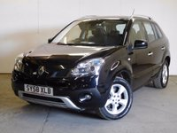 USED 2009 58 RENAULT KOLEOS 2.0 PRIVILEGE DCI 5d 173 BHP 4WD SAT NAV SUNROOF LEATHER FSH 4WD. SATELLITE NAVIGATION. SUNROOF. STUNNING BLACK MET WITH FULL BLACK LEATHER TRIM. HEATED SEATS. CRUISE CONTROL. 17 INCH ALLOYS. COLOUR CODED TRIMS. PARKING SENSORS. BLUETOOTH PREP. CLIMATE CONTROL. R/CD PLAYER. 6 SPEED MANUAL. MFSW. MOT 12/17. FULL SERVICE HISTORY. TEL 01937 849492.