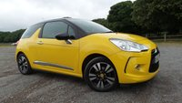USED 2012 62 CITROEN DS3 1.6 DSTYLE 3d AUTO 120 BHP Excellent bodywork, Interior - Excellent Condition, Tyre condition Excellent, Air Conditioning, Cruise Control with Speed Limiter, 16in Black  Alloys Wheels with 195/55 R16 Tyres, Connecting Box - Bluetooth