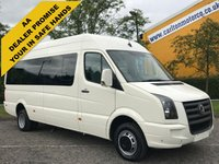 USED 2009 58 VOLKSWAGEN CRAFTER CR50 LWB TDI AUTO MINIBUS-WAV Wheelchair Lift Low Mileage Delivery T.B.A
