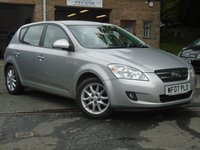 USED 2007 07 KIA CEED 1.6 LS CRDI 5d 114 BHP 2 OWNER + NEW MOT ON SALE