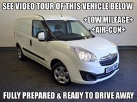 USED 2015 65 VAUXHALL COMBO 1.3 CDTi 16v 2000 Sportive L1H1 Panel Van 3dr +LOW MILEAGE+AIR CON+