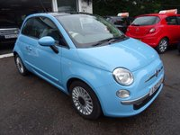 USED 2012 12 FIAT 500 0.9 TWINAIR LOUNGE 3d 85 BHP Low Mileage, Comprehensive Service History + Just Serviced by ourselves, MOT until May 2018, One Previous Owner, Superb on fuel! FREE Road Tax!