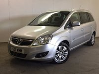 USED 2011 11 VAUXHALL ZAFIRA 1.8 DESIGN 5d 138 BHP 7 SEATER AIR CON MOT 04/18 FSH 7 SEATER. STUNNING SILVER MET WITH PART BLACK LEATHER TRIM. 16 INCH ALLOYS. COLOUR CODED TRIMS. PRIVACY GLASS. CLIMATE CONTROL. R/CD PLAYER. 6 SPEED MANUAL. MFSW. MOT 04/18. FULL SERVICE HISTORY. FCA FINANCE APPROVED DEALER. TEL 01937 849492.