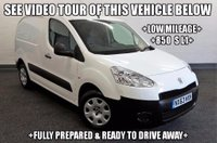 USED 2013 63 PEUGEOT PARTNER 1.6 HDi S L1 850 4dr +LOW MILEAGE+850 S L1+