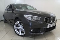 USED 2013 13 BMW 5 SERIES 2.0 520D M SPORT GRAN TURISMO 5DR AUTOMATIC 181 BHP FULL SERVICE HISTORY + HEATED LEATHER SEATS + SAT NAVIGATION PROFESSIONAL + ELECTRIC PANORAMIC ROOF + PARKING SENSORS + BLUETOOTH + CRUISE CONTROL