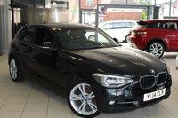 USED 2014 14 BMW 1 SERIES 2.0 120D SPORT 3d 181 BHP SAT NAV + CRUISE CONTROL + XENONS + RAIN SENSORS + 18 INCH ALLOYS + BLUETOOTH + DAB RADIO + PARKING SENSORS