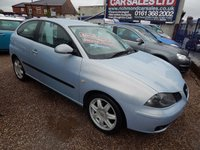 USED 2005 05 SEAT IBIZA 1.4 SPORT 3d 74 BHP F.S.H, LOW MILEAGE, CHEAP INSURANCE, GREAT VALUE