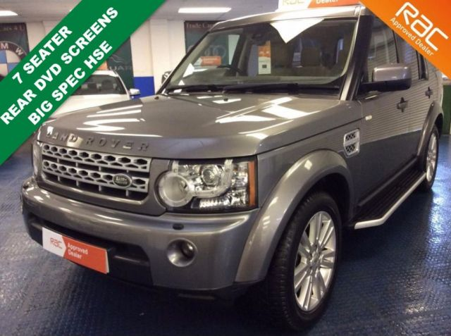 2011 60 LAND ROVER DISCOVERY 4 SDV6 4WD AUTO HSE 7 SEATER