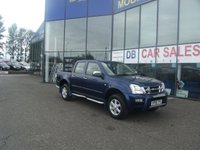 USED 2006 06 ISUZU RODEO 3.0 DENVER MAX TD 4X4 D/C 1d AUTO 131 BHP FREE 12 MONTHS RAC WARRANTY AND FREE 12 MONTHS RAC BREAKDOWN COVER