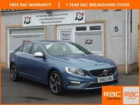 USED 2013 63 VOLVO S60 1.6 D2 R-DESIGN NAV 4d 113 BHP Sat Nav,Bluetooth ,Themed driver display,Daytime running lights