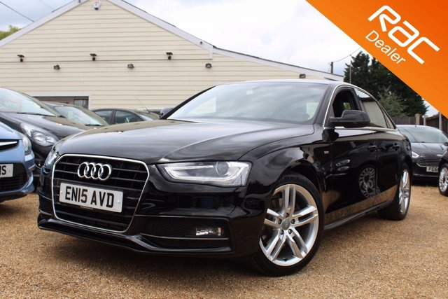 View our 2015 15 AUDI A4 1.8 TFSI S LINE S/S 4d 118 BHP